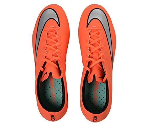 Nike Mercurial Veloce Ii Sg-Pro, Scarpe da Calcio Uomo Multicolore (Amarillo / Plateado / Verde (Brght Mng / Mtllc Slvr-Hypr Trq))
