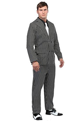 Wide Stripe Plus Size Gangster Kostüm - (Gangster Kostüm Plus)