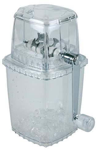 Buddy´s Bar - EIS-Zerkleinerer, hochwertiger Ice Crusher, transparent mit Edelstahl-Messern, robust und langlebig zur Herstellung von Crushed Ice