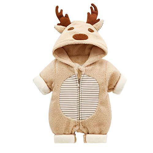Baby Kostüm Rentier - Baby Weihnachten Overall Winter Body Weihnachtsmann Strampler Rentier Onesie