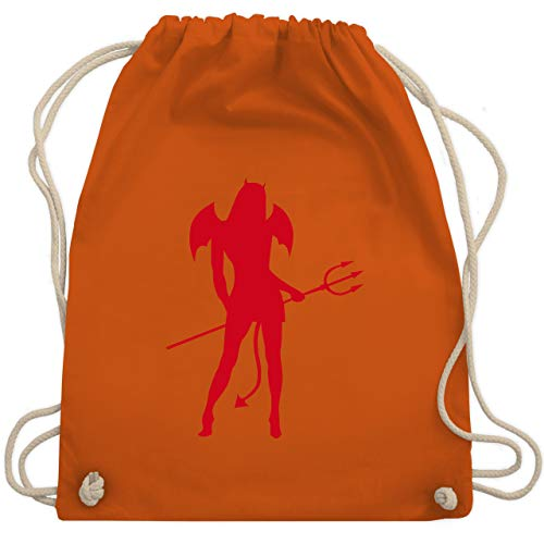 Halloween - Sexy Teuflin - Unisize - Orange - WM110 - Turnbeutel & Gym Bag