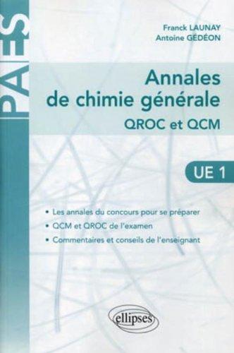 Annales de Chimie gnrale QROC et QCM : UE1