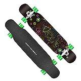 CHTOYS Drop Through Longboard - Skateboard in Acero da 41 Pollici - Skateboard Cruiser Completo per crociere, Carving, Stile Libero e Discesa,B