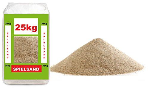25kg Spielsand - TÜV geprüft - ÖKO Test Sieger - Quarzsand bester Qualität 0-2mm Körnung