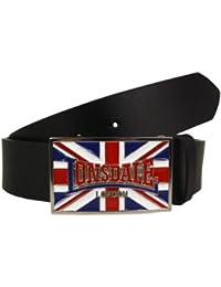 Lonsdale London Ledergürtel Larry Belt black - bitte Größe wählen