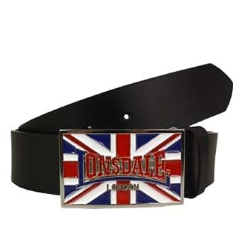 Lonsdale London Ledergürtel Larry Belt black - 90 cm