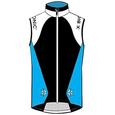 X-Bionic Erwachsene Funktionsbekleidung Running Lady UPD Spherewind Vest, Turquoise/White/Black, L,