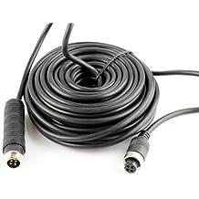 Cable alargador HitCar RCA y alimentación CC, AV de audio y vídeo para CCTV seguridad, coche, autobús, remolque, cámara para aparcar trasera