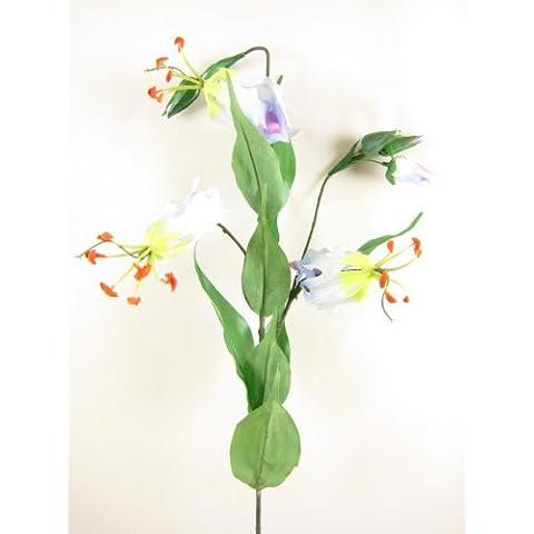 Flores de seda artificial de 6Gloriosa Lily Sprays de GT Decorations