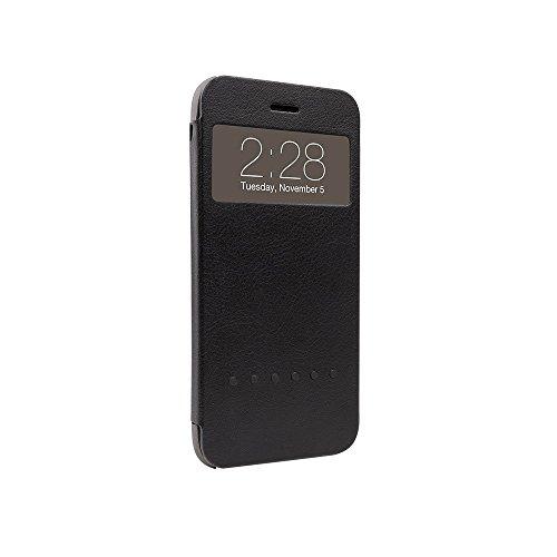Ozaki OC588BK Hel-ooo für Apple iPhone 6 Plus / 6S Plus - hochwertige Schutzhülle mit praktischem Informationsfenster - schwarz Schwarz