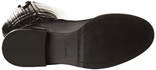 Clarks - Marquette Silk, Stivaletti Donna Nero (Black Leather)