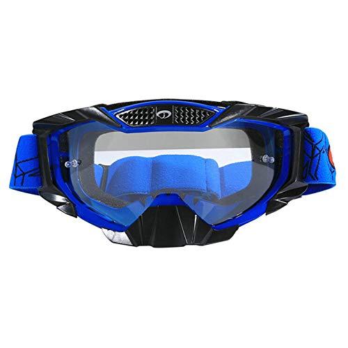 Anyeda Sportbrillen für Fahrräder Herren TPU Vollsichtbrille Bolle Schwarz Blau Weiß