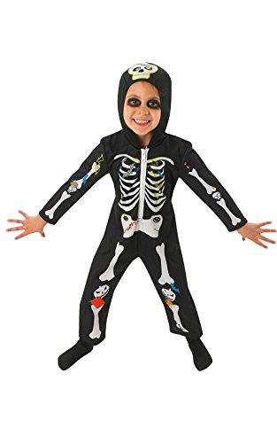 Rubie' s unisex-child ufficiale costume da scheletro per bambino, taglia unica, multicolore