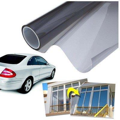 takestop Film adhésif solaire obscurcissant à effet miroir pour les fenêtres de la maison, de bureau et les vitres de voiture.