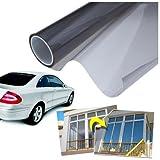 takestop Pellicola Solare 50X300 Oscurante Adesiva per FINESTRE E VETRI di Auto Parasole CASA Ufficio