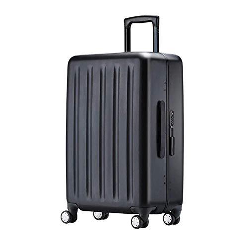 Deposito imposta elegante personalità materiale pc 360 ° mute caster trolley-nero, 36 * 21 * 54cm