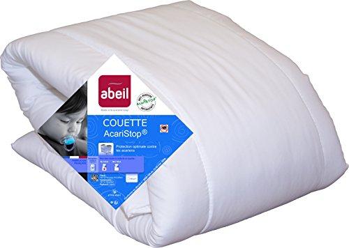 Abeil 15000001205 Couette Bébé Acaristop Anti-Acarien & Antibactérienne Blanc 75 x 120 cm