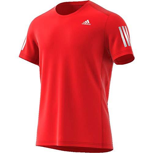 adidas Own The Run Tee Men T-Shirt, Herren S Rot/Silber (Active red/Reflective Silver) - Active Run Tee