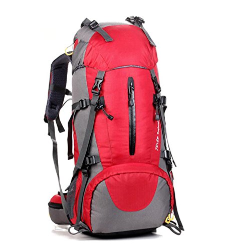 ZHANGOR Hiking Backpack Travel Daypack Waterproof Backpack Outdoor Sports Daypack With Rain Cover For Climbing Camping Mountaineering Fishing Traveling Cycling Skiing, Red