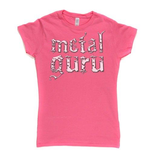 Metal Guru Womens Fitted T-shirt Rosa