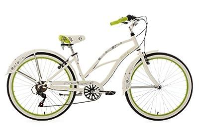 KS Cycling Damen Fahrrad Beachcruiser Bellefleur, weiß-grün, 26, 749B