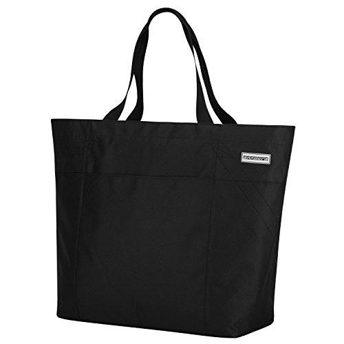 anndora XXL Shopper schwarz - Strandtasche 40 Liter Schultertasche Einkaufstasche