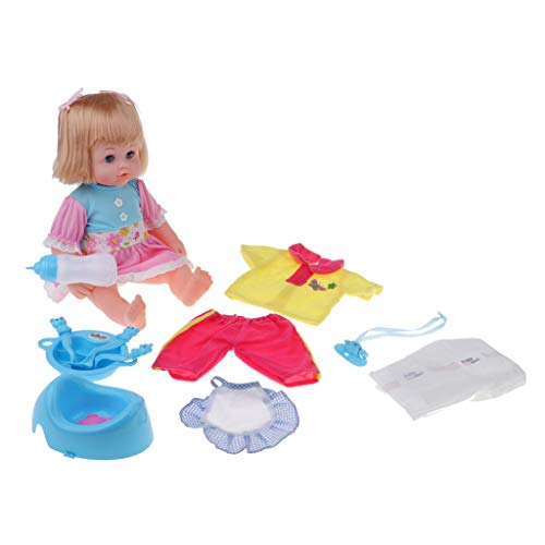 nsechte Sprechende Baby Puppe Spielzeug wie echtes Baby, Funktions Babypuppe inklusive Puppenzubehör - C - Mädchen ()