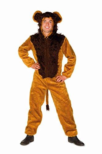 Herren Kostüm Löwe Overall Löwenkostüm Karneval Fasching Gr.60