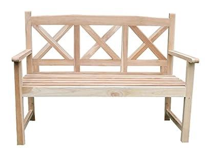 TOP-ANGEBOT! 2-Sitzer Teakbank Gartenbank Landhausstil ca. 120 cm Sitzbank Parkbank Holzbank Teak Bank von Home-Feeling auf Gartenmöbel von Du und Dein Garten