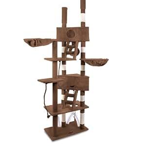 leopet arbre chat g ant r glable en hauteur de 2 30 2 50 m marron diverses couleurs. Black Bedroom Furniture Sets. Home Design Ideas