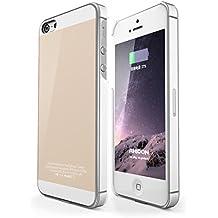 IPhone 5 / 5S SE Receptor Inalambrico Caso, Rhidon iPhone 5 / 5S SE Qi Inalambrico Cargador Caso Flexible Relámpago Conector [1A upgrade]