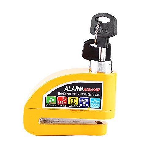 Qiilu Motorrad Roller Fahrrad Diebstahlschutz Bremse Lock Security Alarm Ausgelöst System