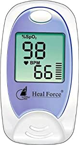 Heal Force Prince 100-A Finger Pulse Oximeter to monitor SpO2 & PR at home or anywhere