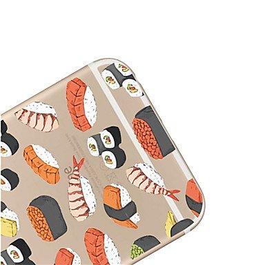 Casse del telefono mobile & Cover, per iPhone 7 sushi maycari®delicious TPU trasparente posteriore per iPhone 6S 6 Plus ( Modello compatibile : IPhone 7 ) IPhone 8