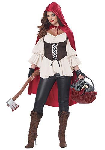 Women's Ain't Afraid of No Wolf Fancy Dress Costume - Fairy Tale Little Red Riding Hood Kostüm
