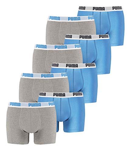 8 er Pack Puma Boxer shorts / Blau Grau / Size S / Herren Unterhose (Pack Boxer Briefs-8)