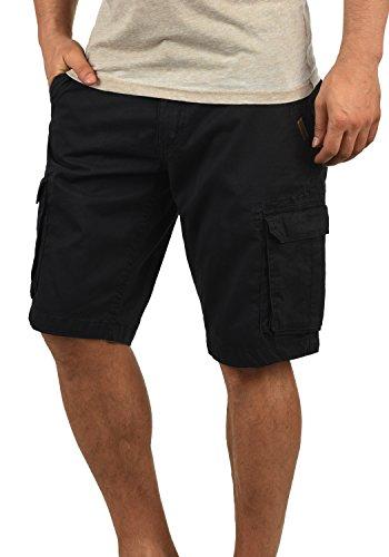 SHINE Original Michigan Herren Cargo Shorts Bermuda Kurze Hose Aus 100% Baumwolle Regular Fit, Größe:XL, Farbe:Black