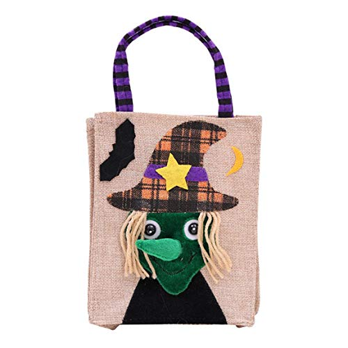 Moonuy Halloween Nette Handtaschen schöne Halloween Dekoration Hexen Candy Bag Verpackung Kinder Party Zucker Aufbewahrungstasche Geschenk