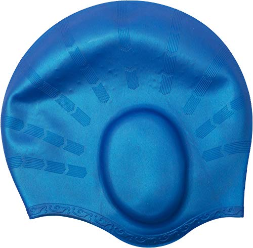 Cressi ear cap cuffia nuoto unisex, di alta qualità, in silicone anallergico, modello con sede orecchie, blu royal