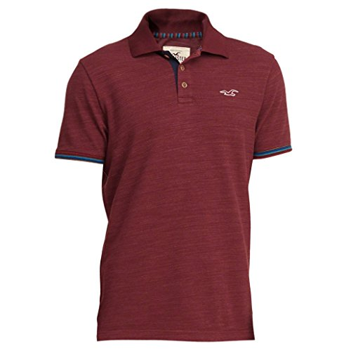 Hollister -  Polo  - Polo - Basic - Maniche corte  - Uomo Burgundy Large