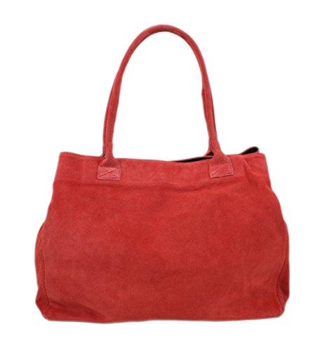 Fotografico Nele Borsa a tracolla/borsa a tracolla in pelle scamosciata/colori assortiti, Rot (Grigio) - 4251042503318 Rot