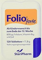 Steripharm Pharmazeutische Produkte Folio Forte Plus B12 Tabletten, 1er Pack (1 x 12 g)