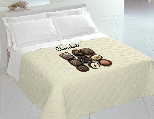 Italian Bed Linen 8058575009241 Couette Été Imprimée en Numérique Chocolate 100% Coton pour Lit 2 Places 260 x 270 x 1 cm
