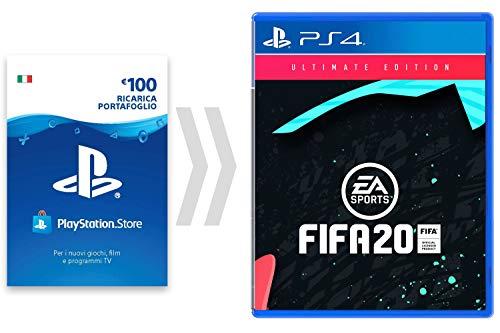 100? PSN Card Credito per FIFA 20 - Ultimate Edition [Codice download per PSN - Account italiano] - Ultimate Edition Edition | Codice download PS4 - Account italiano