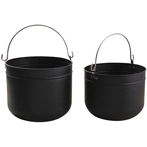 Preisvergleich Produktbild Körbe Brennholz Wippsäge aus Metall schwarz2Stück