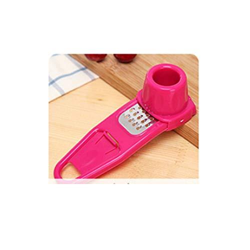 Candy Farbe Küchenzubehör Kunststoff Ingwer Knoblauch Schleifwerkzeug Magie Silikon Peeler Slicer Cutter Reibe Hobel, Rot - Slicer Knoblauch-peeler