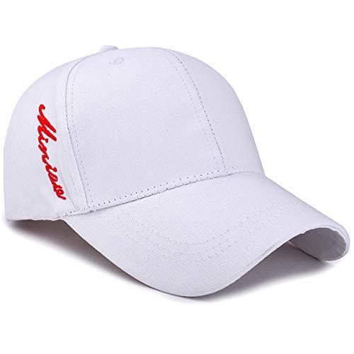 kyprx Sommer Baseball Cap weiß verstellbar -