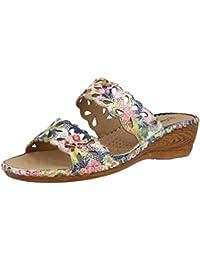 Fitters Footwear - Sandalias de vestir de Material Sintético para mujer Azul azul marino, color Azul, talla 43 EU