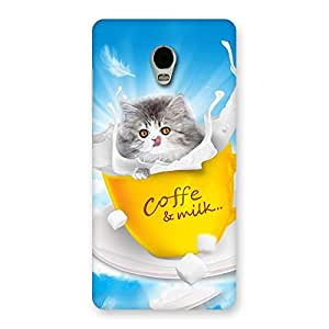 Cute Kitty Coffee Multicolor Back Case Cover for Lenovo Vibe P1