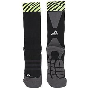 adidas X TRG Socks–Calze Unisex, Unisex adulto, X TRG Socks, Nero/Grigio/Lima, 4042